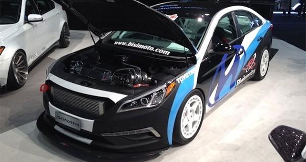 Hyundai Surprises Visitors with Bisimoto Sonata at the SEMA Show