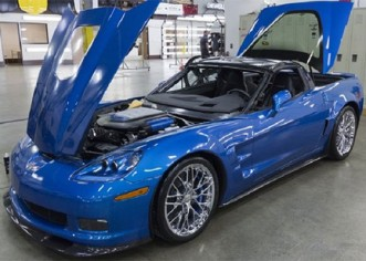 The Blue Devil Sinkhole Corvette ZR1 Shows Up at the SEMA 2014