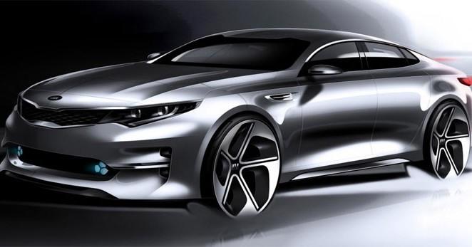 Sketches of the new Kia Optima revealed