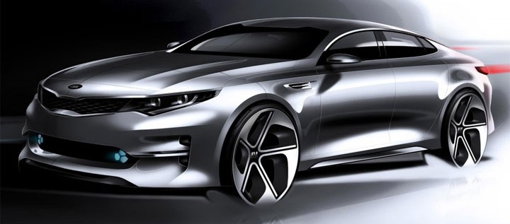 Sketches of the new Kia Optima revealed